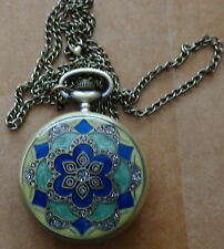 Jewish Star of David  Quartz Pocket Watch Pendant