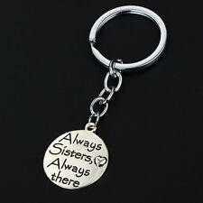 Family Gifts Words Love Silver Plated Keyring Popular Trendy Always Sister There