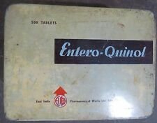 VINTAGE ADVERTISE MEDICAL TIN SIGN BOX ENTRO QNINOL EAST INDIA PHARMACEUTICAL