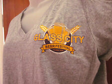 GLASS CITY BEER FESTIVAL Toledo juniors lrg T shirt Good For What Ales tee OHIO