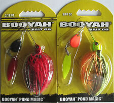 2 - BOOYAH BAIT Pond Magic - 3/16 oz. - Red Ant & Fire Bug