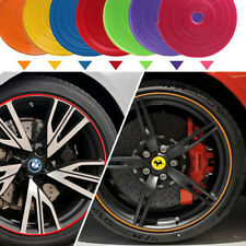 8M RED Premium Alloy Wheel Scratch proof Rim Tape Stripes Stickers UK STOCK