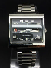 Vintage Rado Manhattan Automatic 25J Black Dial Mans Watch (Excellent condition)