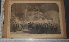 Original LESLIE'S ILLUSTRATED Engraving SOUTHERN LOYALISTS CONVENTION 1866