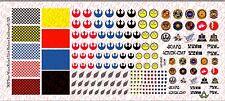 1/12 Scale Decals: Star Wars Rebel Pilot custom Helmet Set - Waterslide Decals