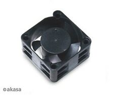 Akasa 40 x 20mm Low Noise Fan 12v, 3-pin, Sleeve Bearing, Medium Speed Black