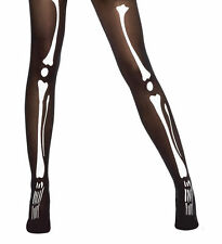Halloween Childrens Skeleton Bone Tights Gothic Fancy Dress Accessory Teen Child