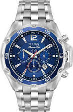 NEW! MEN'S BULOVA MARINE STAR STAINLESS STEEL CHRONOGRAPH WATCH! 98B282!