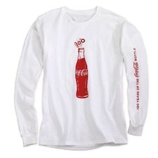 COCA COLA COKE 100 YEAR CONTOUR BOTTLE ANNIVERSARY LONG SLEEVE SHIRT XL  NEW!!