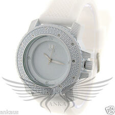 Ladies Iced Out Crystal Accented Stylish Hip Hop Wristwatch by Black Fire WL102