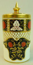 A FINE ABBEY DALE IMARI CHRYSANTHEMUM CHINA JAR & COVER