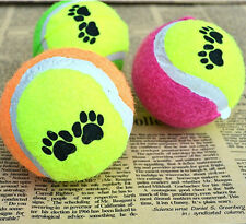 Pets Dogs Squeaky Chew Toys Tennis Ball Non-toxic Bite resistant Training 6.5cm