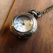 1 Pc Vintage Style Pocket Watch Necklace Glass Jewel Door Pocketwatch