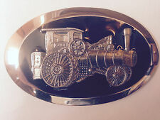 Case Steam Engine Belt Buckle, Black Resin, New