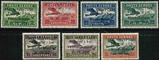 Albania Air Mail 1928 Sc#C15-C21 SIGNED Overprint on 1925 Issue MH cp1