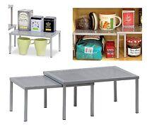 Rack Cabinet Organizer 2 Tier Kitchen Storage Holder Shelf Spice Pantry Cupboard