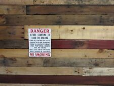 PORCELAIN NO SMOKING Shipping Railroad Factory Industrial SIGN OIL GAS STATION