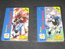 LOT (2) ZELLERS & INGRAM HAND SIGNED AUTOGRAPHED CERTIFIED PHONE CARDS #/3750