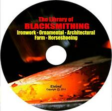Blacksmithing Forging Anvil Steel Wrought Iron Horseshoeing Welding Books on CD