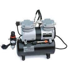 Airbrush Mini Oil-Less Air-Compressor with Tank (Double Piston)
