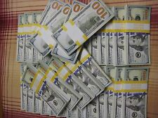 Realistic Prop Fake Money for Movies Video 5x Bundles of $10,000 total $50,000