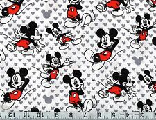 Disney Mickey Mouse Relaxed Cotton Fabric Remnant  #445