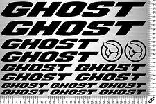 GHOST Sticker Set 2 | Fahrrad Rahmen Aufkleber | Bike Frame Sticker | 16 Decals