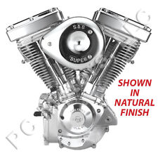 "S&S CYCLE 111"" CHROME ENGINE MOTOR 1984-1999 EVOLUTION EVO HARLEY NATURAL FINISH"