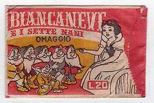 bustina figurine packet pochette  - BIANCANEVE E I SETTE NANI MODERNA