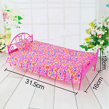 Kids Doll Accessories Bedroom Furniture Lovely Bed Dollhouse Toy Set for Barbie