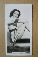 MARGOT LINDER- Real Photo Carreras Cigarette Cards-Film & Stage Beauties, No.29