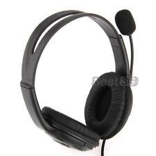 Casque Ecouteur Stéréo Earphone Microphone pour PS3 Manette PC Jeux Vidéo Noir
