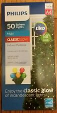 MULTI Sphere 50 count LIGHTS LED Christmas PHILIPS  16 ft A3 NEW