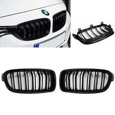 For BMW 3Series F30/31 M3 Look Gloss Black Kidney Euro Sport Front Hood Grill12-