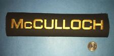 Vintage McCulloch Chainsaw Go Kart Motor Racing Lumberjack Iron On Patch Crest