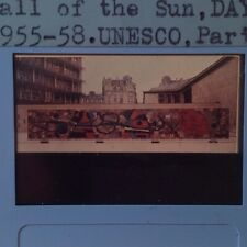 "Joan Miro & Artigas Mural ""Wall Of Sun 1955"" 35mm Surrealism Dadaism Art Slide"