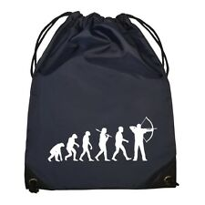 Evolution of Archer Navy Drawstring Bag archery bowman toxophilite target NEW
