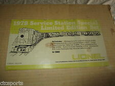 Vintage Lionel 1978 - 6-1868 Minneapolis & St. Louis Service Station Set