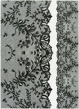 Rice Paper for Decoupage, Scrapbook Sheet, Craft Paper Vintage Black Lace