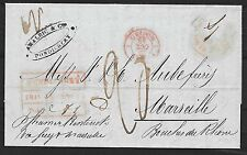 French Pondichery covers 1848 folded letter over Madras and Suez to Marseille