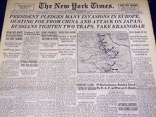 1943 FEB 13 NEW YORK TIMES - PRESIDENT PLEDGES MANY INVASIONS IN EUROPE- NT 4836
