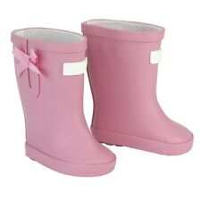 "Light Pink Wellies Rain Boots Shoes for 18"" American Girl Doll Clothes"