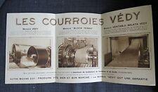 LOUVIERS (Eure) dépliant publicitaire les Courroies VEDY 1926
