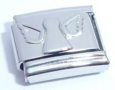 SILVER ANGEL Italian Charm - 9mm fits Classic Starter Bracelets Wings Fairy N219