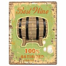 PP0850 BEST WINE Parking Plate Chic Sign Home Kitchen Restaurant Cafe Decor Gift