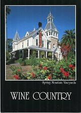 Wine Country Spring Mountain Vineyards Falcon Crest California 1985 Postcard