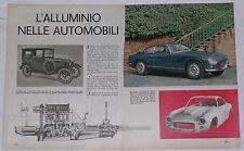Article Articolo 1965 LANCIA FLAMINIA 3C SUPER SPORT ZAGATO - FOD - ALLUMINIO