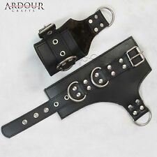 100% Genuine Heavy Leather wrist Suspension Cuffs restraint bondage heavy buckle