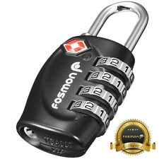 Fosmon TSA Approved Luggage Locks [4 Digit Combination] Travel Suitcase Padlock