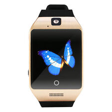 Bluetooth Smart Pedometer Watch Q18 for Android Samsung SIM Card Golden